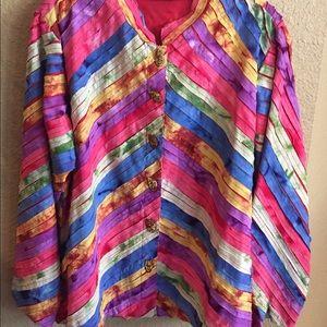 New Direction Multicolored Jacket Blazer Sz L
